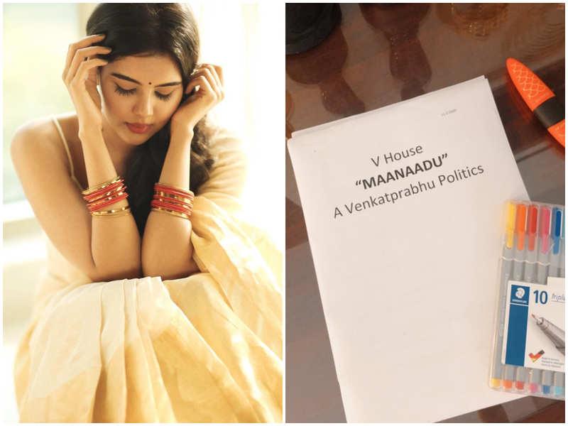 Kalyani Priyadarshan eager to resume Venkat Prabhu's Maanaadu