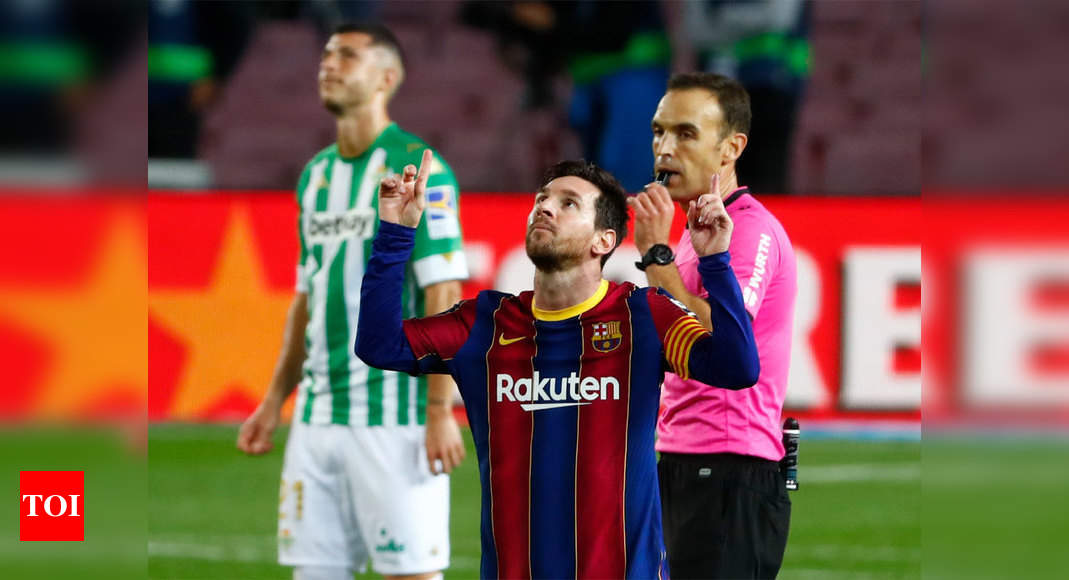 Lionel Messi at the double against Betis after starting on bench   Football News – Times of India