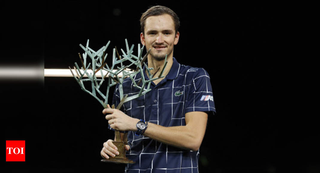 Medvedev beats Zverev to win Paris Masters title | Tennis News – Times of India