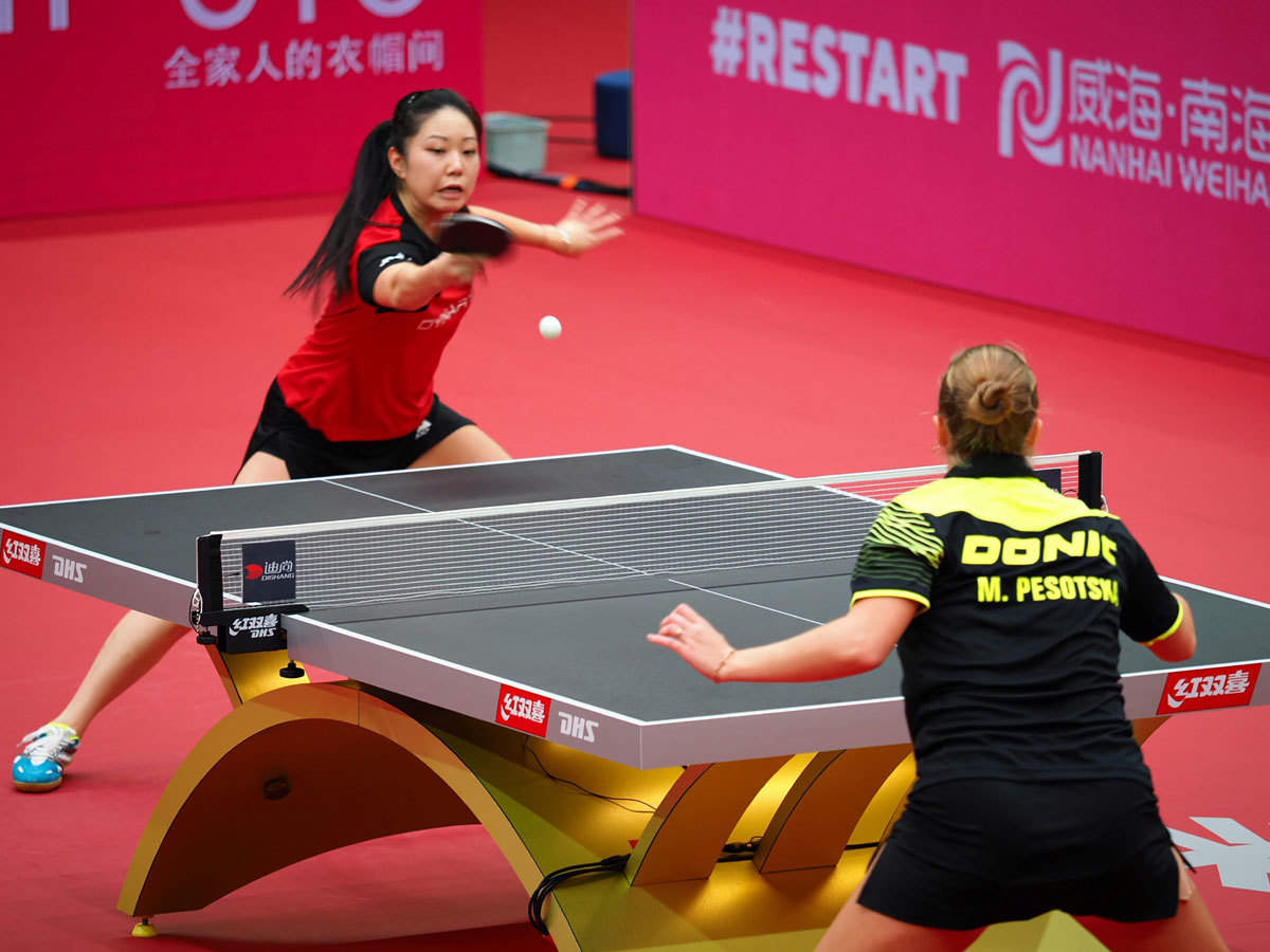 Table Tennis Nerves And Serves International Table Tennis Back After 238 Days More Sports News Times Of India