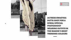 Actress Swastika Dutta in a Diwali special photoshoot with Calcutta Times falunting the season's latest colours and trends