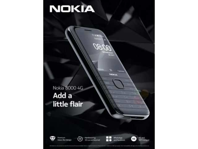 Nokia 8000 4G key features, image leaked online