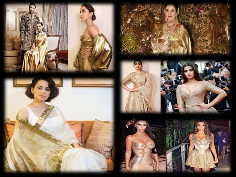 Take a cue from Deepika Padukone, Kangana Ranaut and other celebs to look bold in gold this Dhanteras