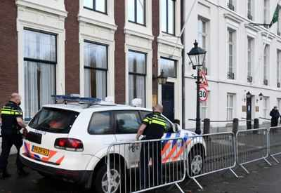 Saudi embassy in The Hague sprayed with gunfire, no injuries - Times of India