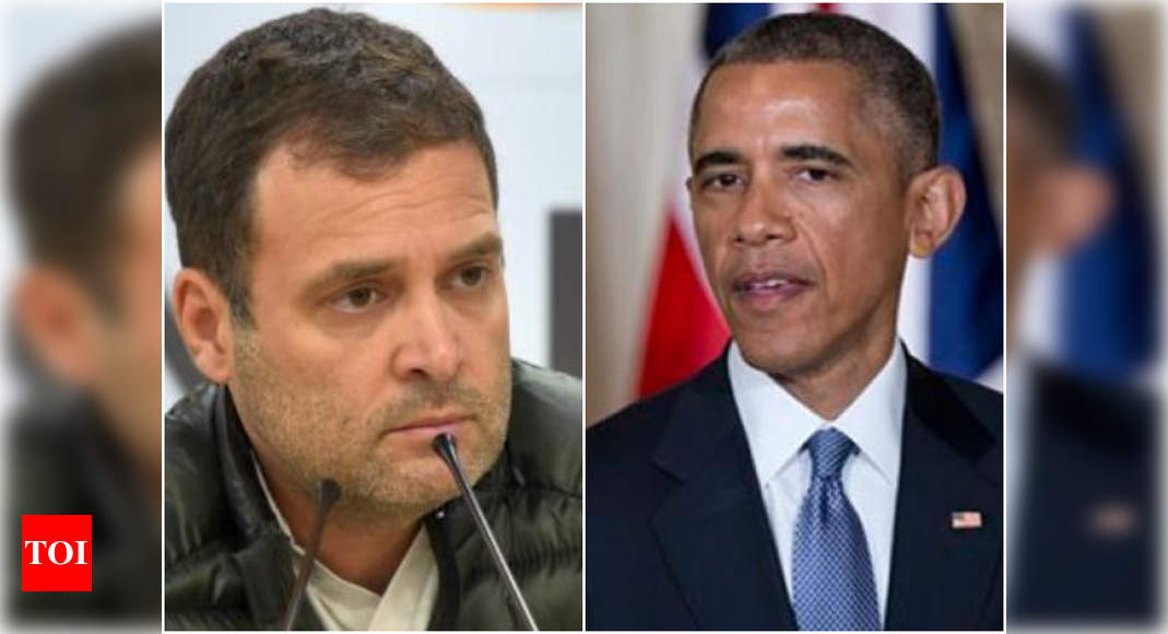 Obama mentions Congress leader Rahul Gandhi in his memoir | India News – Times of India