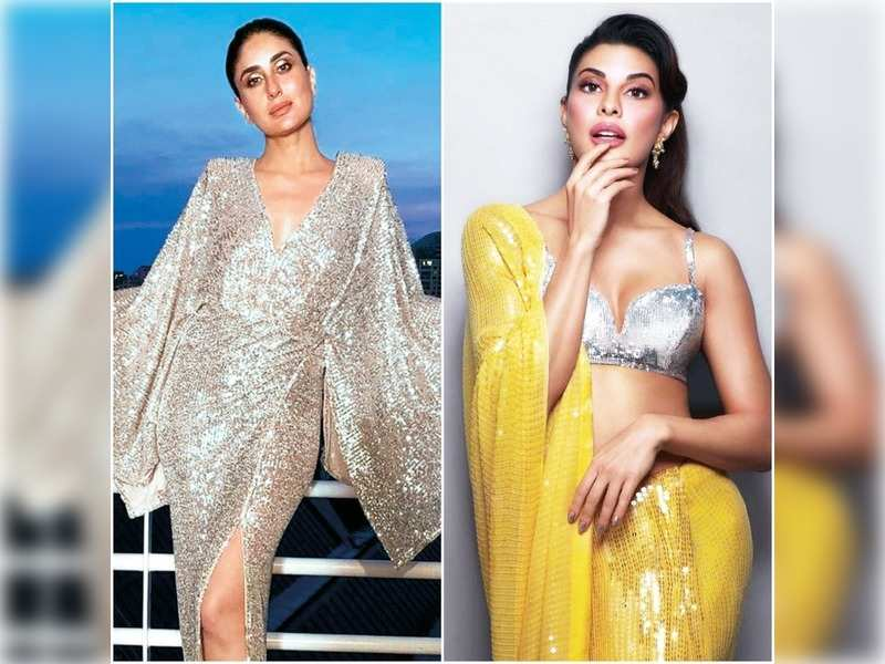 Kareena Kapoor Khan and Jacqueline Fernandez wear the sequinned look in style (Pics: Instagram)