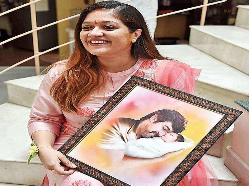 I sing Chiranjeevi's songs as lullabies to our son: Meghana Raj Sarja