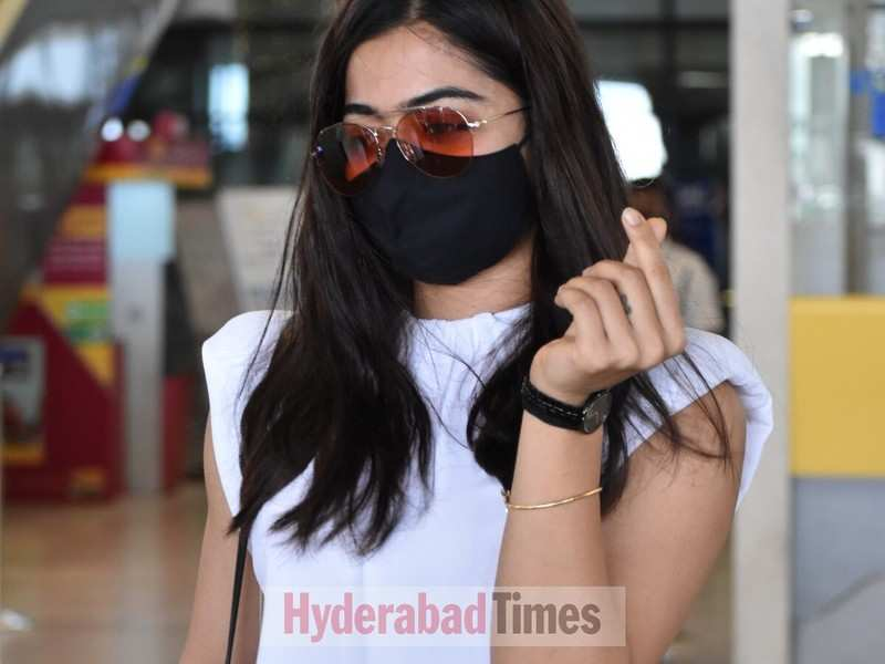 Spotted: Rashmika Mandanna channels her inner bohemian spirit as she lands in Hyderabad