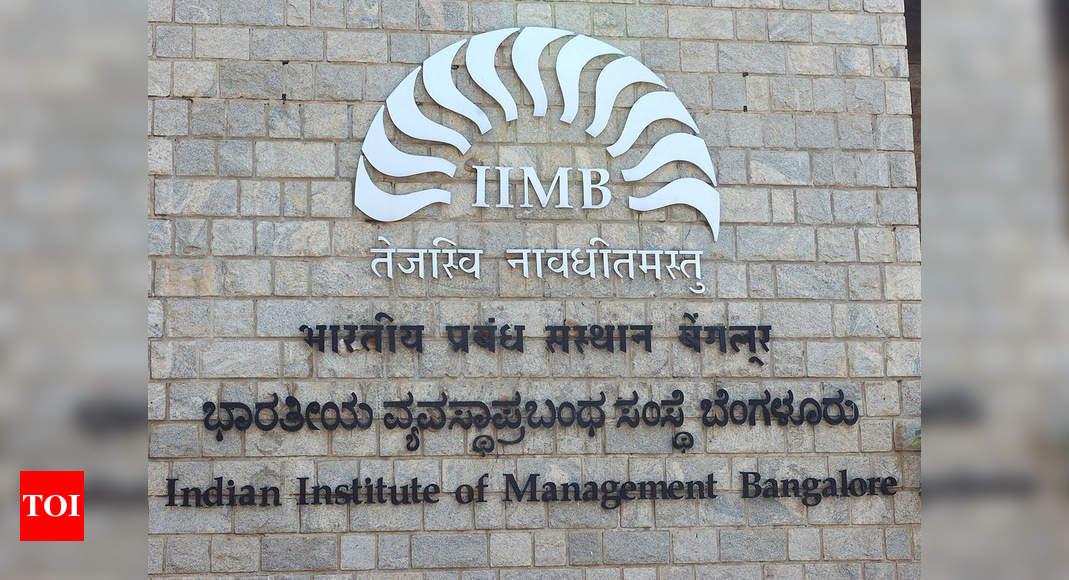 IIM-B tops list of best B-schools in Eduniversal rankings – Times of India