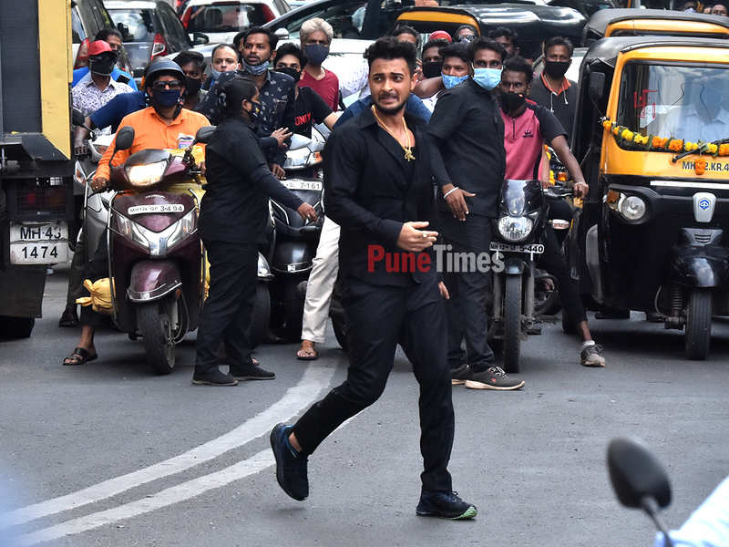Aayush Sharma shooting in Pune