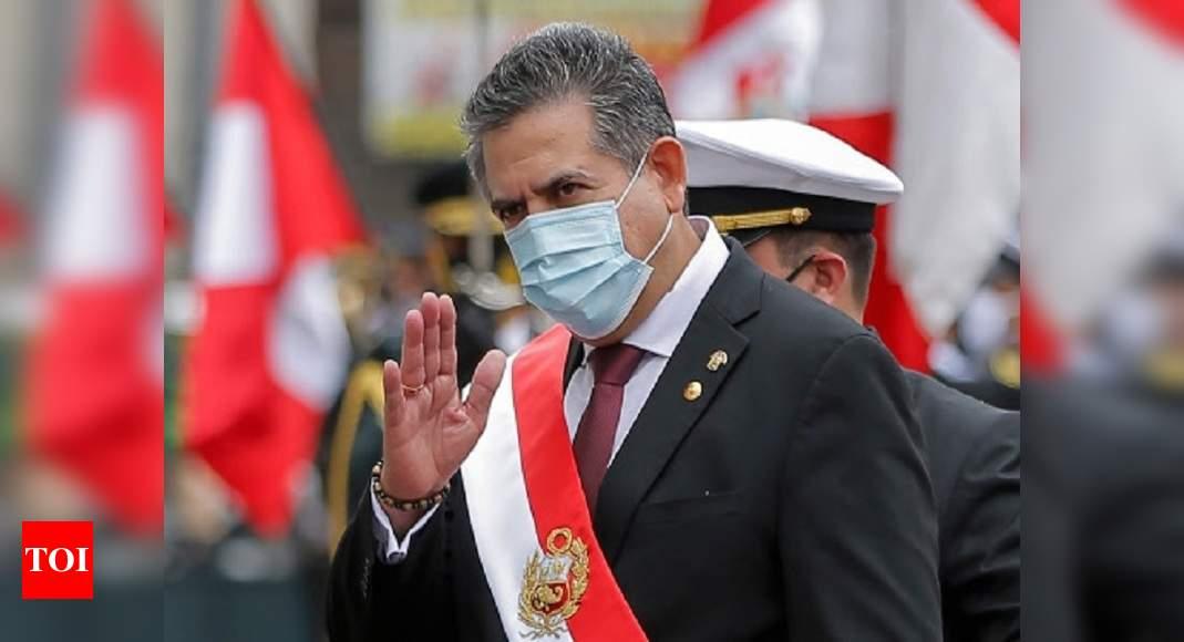 Peru's interim leader announces resignation after upheaval – Times of India
