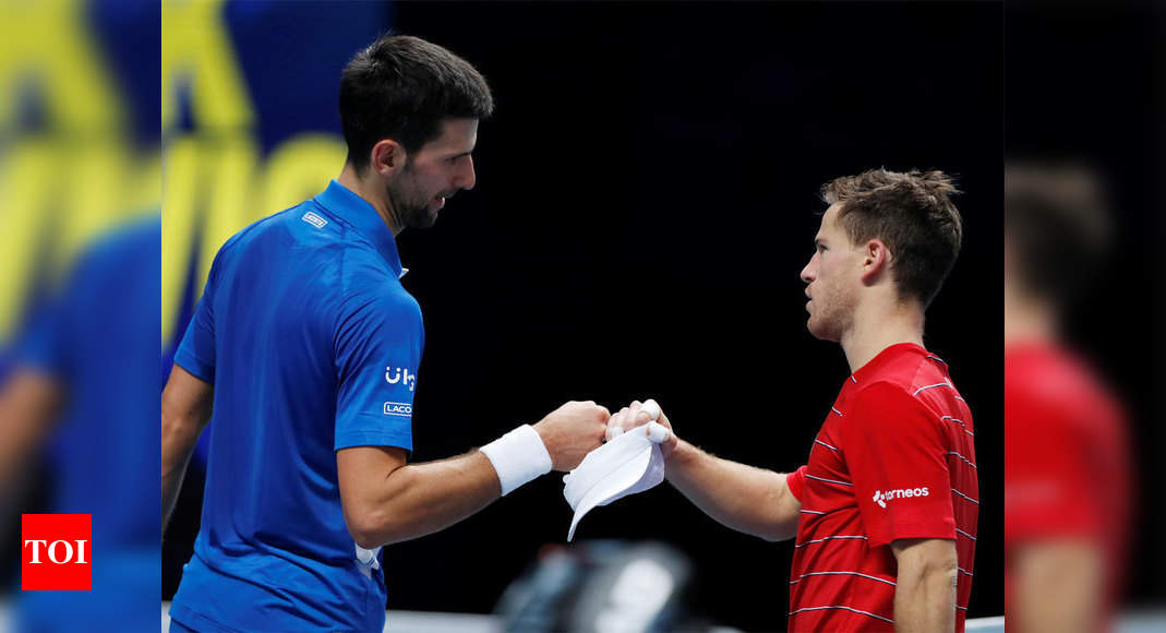 Imperious Novak Djokovic sweeps aside Diego Schwartzman at ATP Finals | Tennis News – Times of India