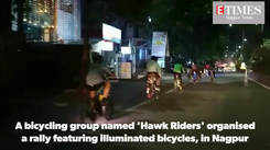 A group of city cyclists celebrated Diwali in a unique way