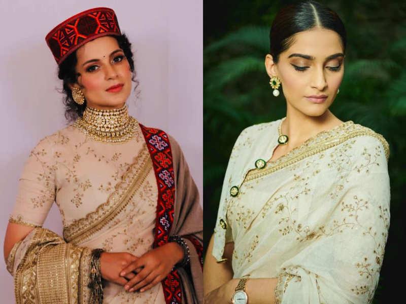 Kangana Ranaut and Sonam Kapoor wore the same sari: Who wore it better?