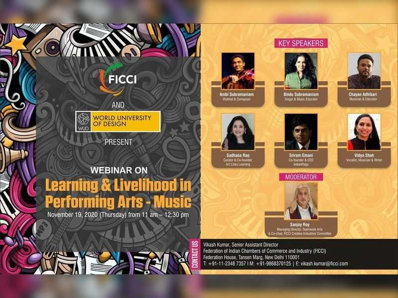 Bindu and Ambi Subramaniam to be a part of a webinar on learning and livelihood in music
