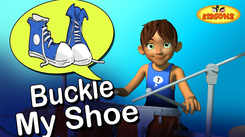 English Nursery Rhymes: Kids Video Song in English 'One Two Buckle My Shoe'