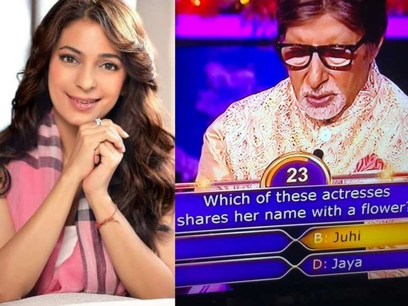 Juhi Chawla rejoices as Amitabh Bachchan asks a question based on her in Kaun Banega Crorepati; tweets, 'Technically not on the hotseat but in spirit'