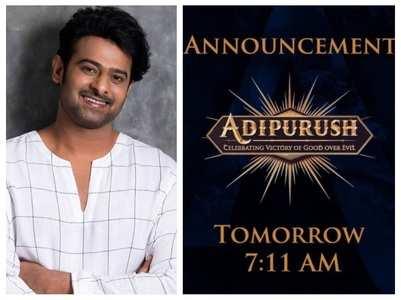 Adipurush: Big announcement tomorrow
