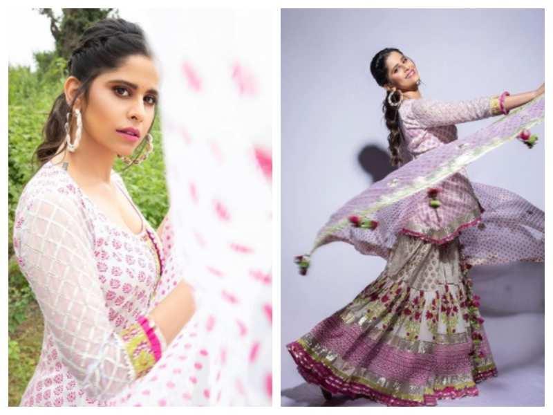 Photos: Sai Tamhankar looks mesmerising as she twirls in a traditional outfit
