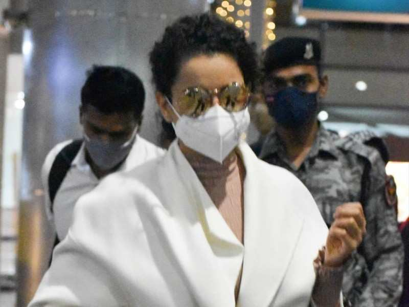 Spotted: The bold and beautiful Kangana Ranaut arrives in Hyderabad to shoot for Thalaivi
