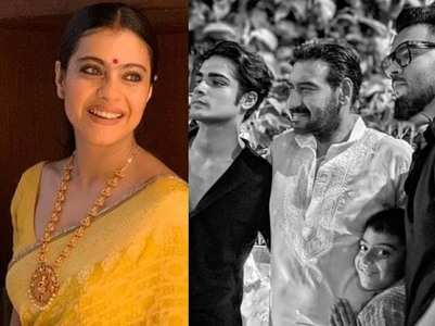 Kajol gives a shoutout to the men in her life