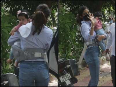 Shilpa snapped with her daughter Samisha