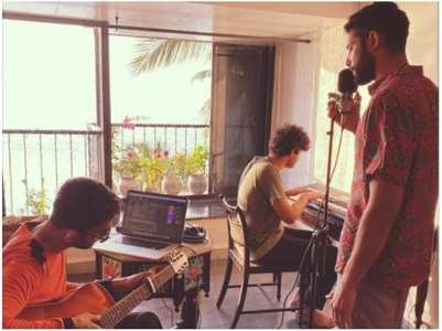 Siddhant enjoys a jamming session at home