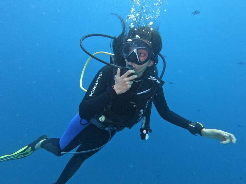 Pranitha Subash gets scuba certified in Maldives