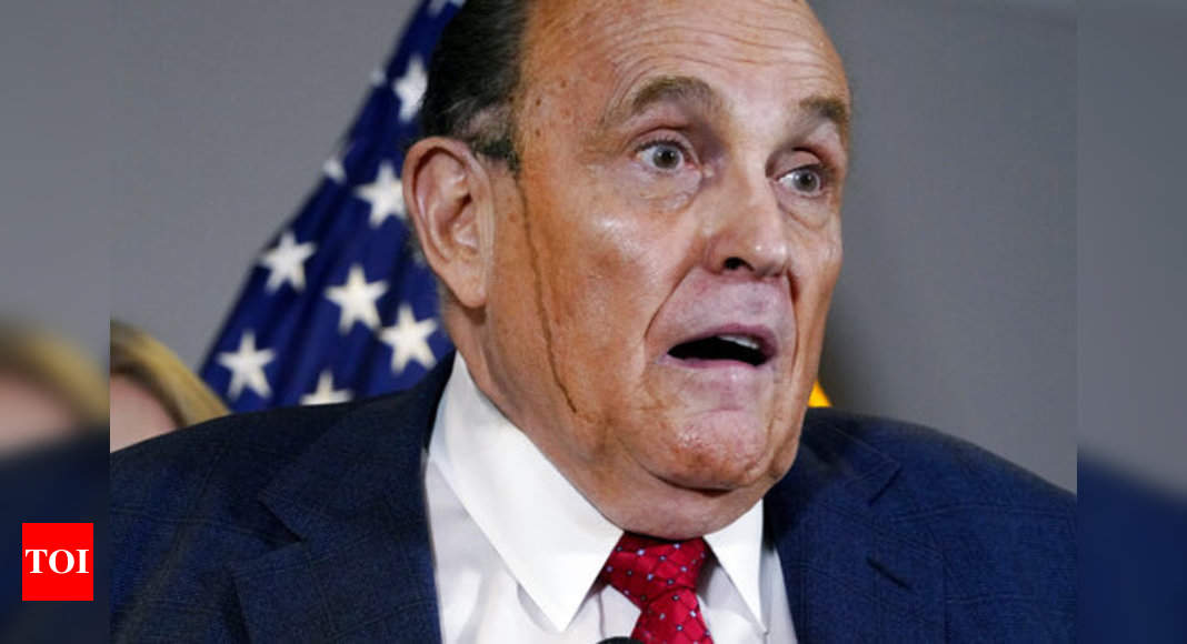 Rudy Giuliani, from 'America's Mayor' to Trump's conspiracy monger - Times of India
