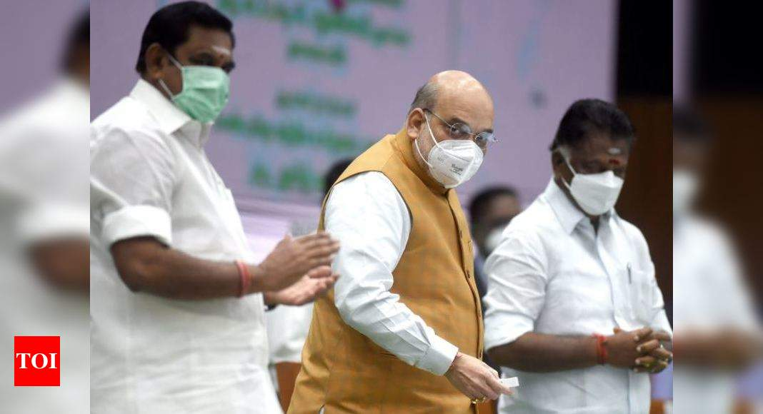 BJP-AIADMK tie-up to continue for 2021 Tamil Nadu polls - Times of India