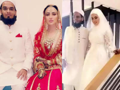 Sana Khan ties the knot; see wedding pics