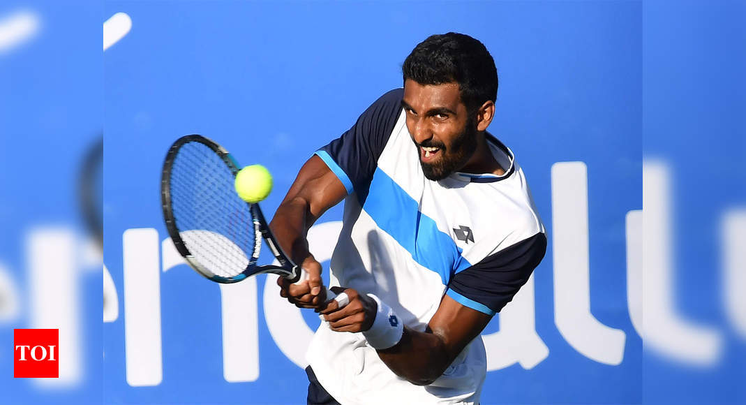 Second straight runner-up finish for Prajnesh following final defeat in Orlando | Tennis News – Times of India