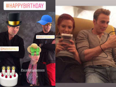 RDJ-Chris wish Scarlett-Mark on their b'day