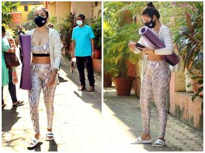 Pics: Malaika gets papped post-yoga session