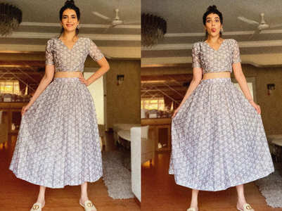 You can't miss Karishma Tanna's hot new take on lehenga choli