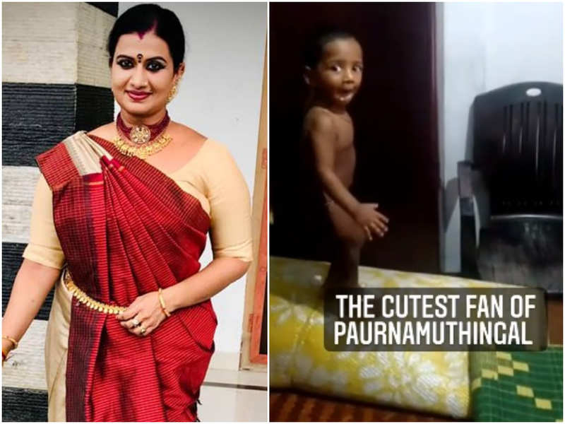 A young fan wins Pournamithinkal actress Devi Chandana's heart; watch video
