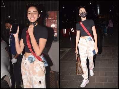 Ananya Panday returns home from Dubai
