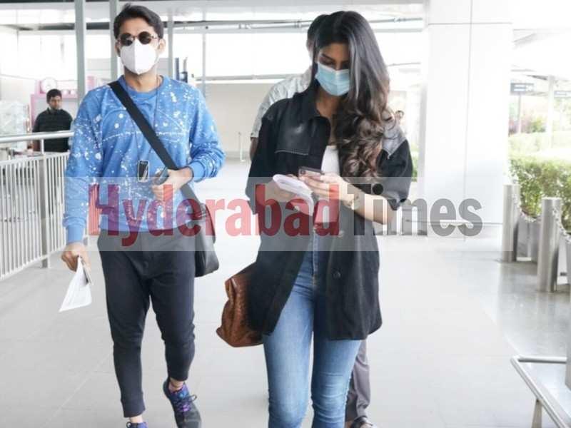 Spotted: Nithiin flies to Dubai with Shalini Kandukuri to shoot for Rang De