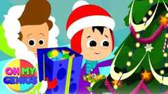 English Kids Poem: Nursery Song in English 'Here Comes Mister Santa'
