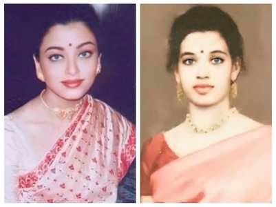 Aishwarya is a spitting image of her mom