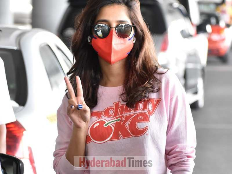 Spotted: Nabha Natesh's airport look of vintage-print crop top and denims is super adorable