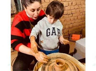 Watch Kareena-Taimur enjoy pottery