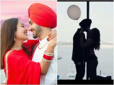 Neha-Rohanpreet lock lips on 1st month anniv