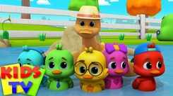 Watch Out Children Hindi Nursery Rhyme 'Five Little Ducks' for Kids - Check out Fun Kids Nursery Rhymes And Baby Songs In Hindi