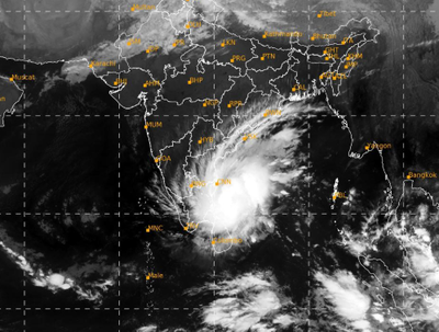 Cyclone Nivar 450 km away from Chennai