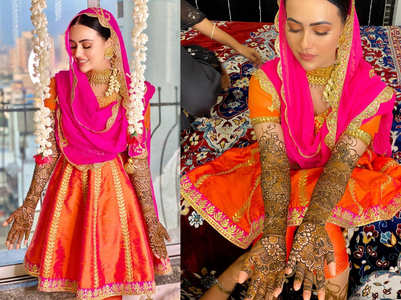 Sana Khan's pics from her mehendi ceremony