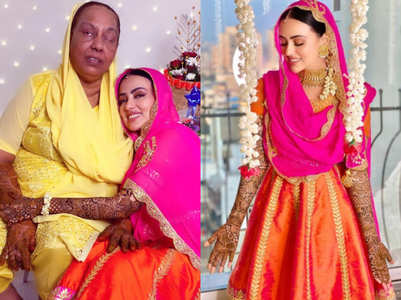 Sana Khan adorable mehendi pics with mom