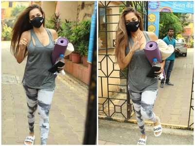 Pics: Malaika snapped post yoga session
