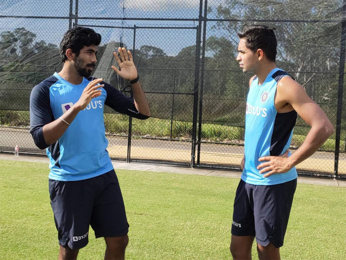 Jasprit Bumrah shares bowling tricks with youngster Kartik Tyagi   Cricket  News - Times of India