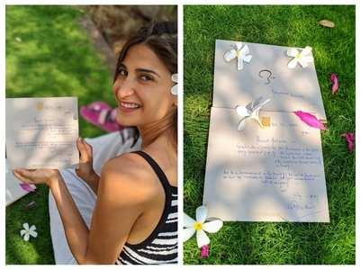 Aahana receives handwritten note from Big B